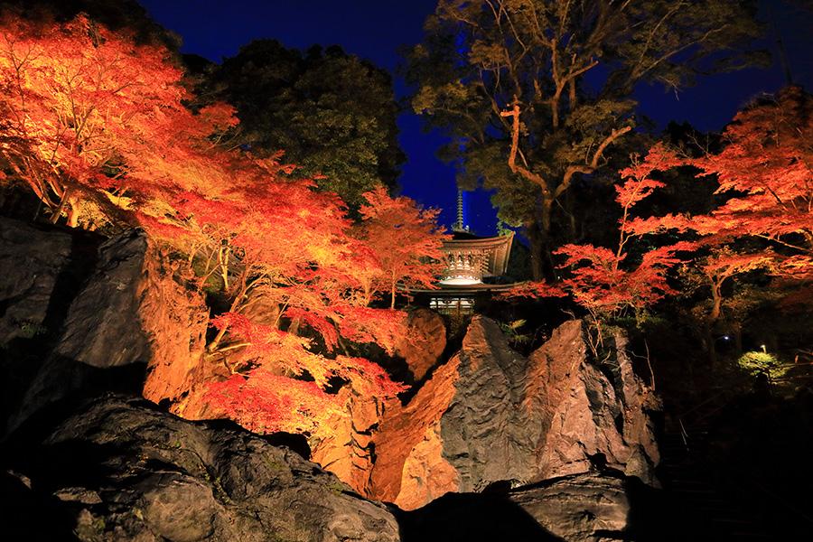 石山寺 紫式部 ライトアップ